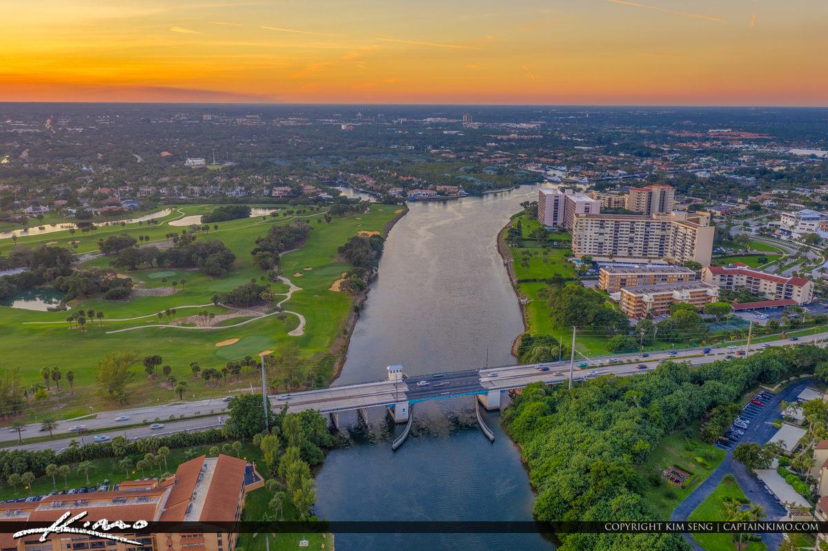 Florida Palm Beach Bridge of Sunset View