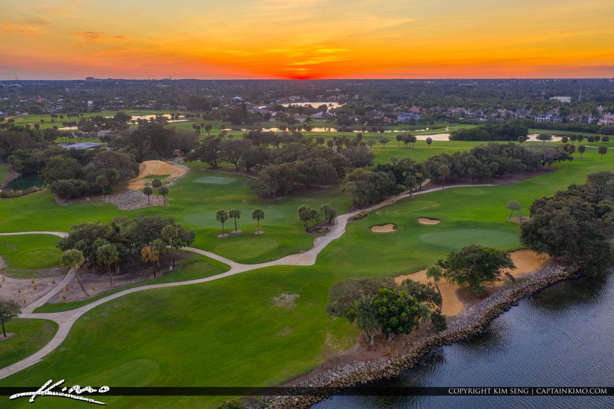 Golf Course Sunset Florida