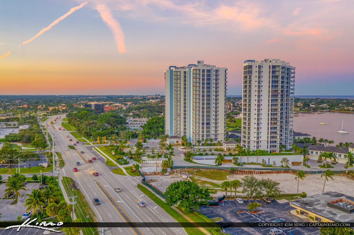 A Very Nice Color of Sunset View With Condos