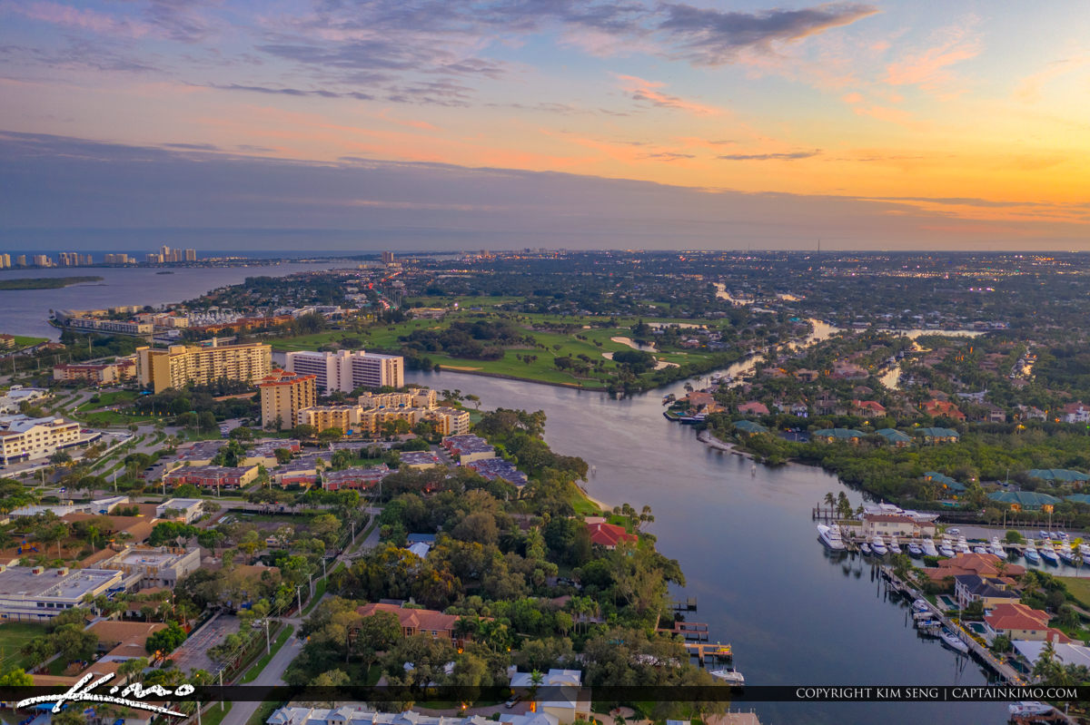 Old Port Cove Marina With Nateral Sunset View Palm Beach Florida