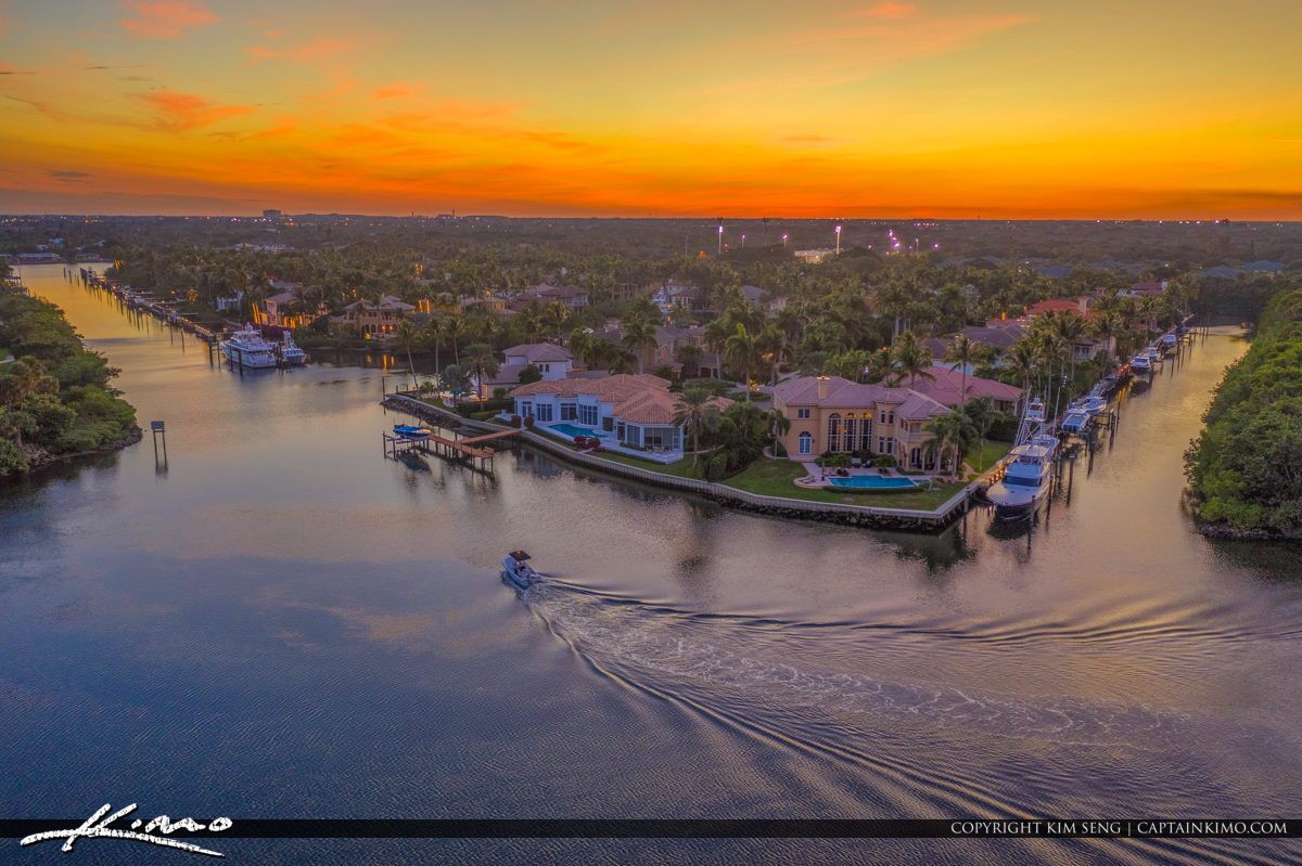 The Conner View Sunset of Lake Worth Lagoon Florida