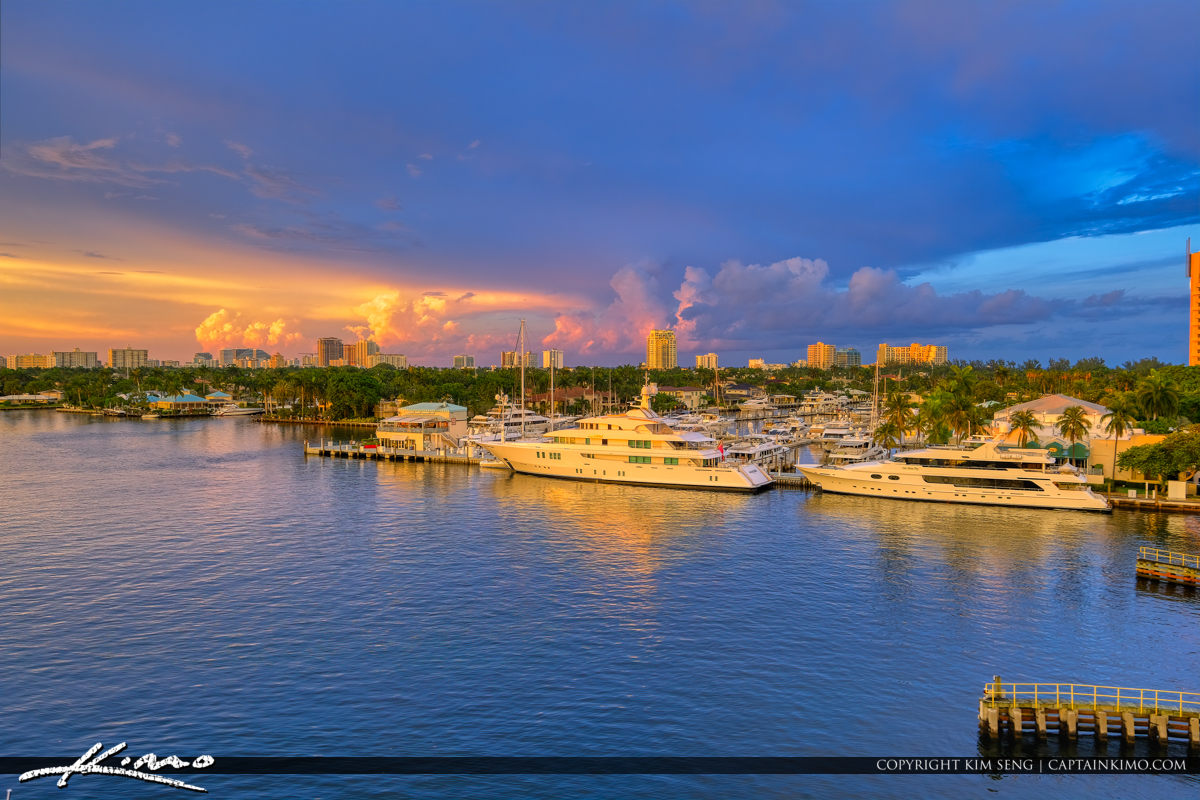 Fort Lauderdale Florida Sunset Killer Clouds at Pier Sixty-Six Marina