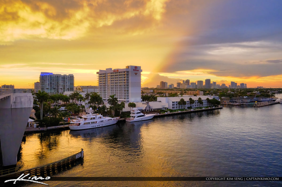 Hilton and Marina Fort Lauderdale Florida Sunset
