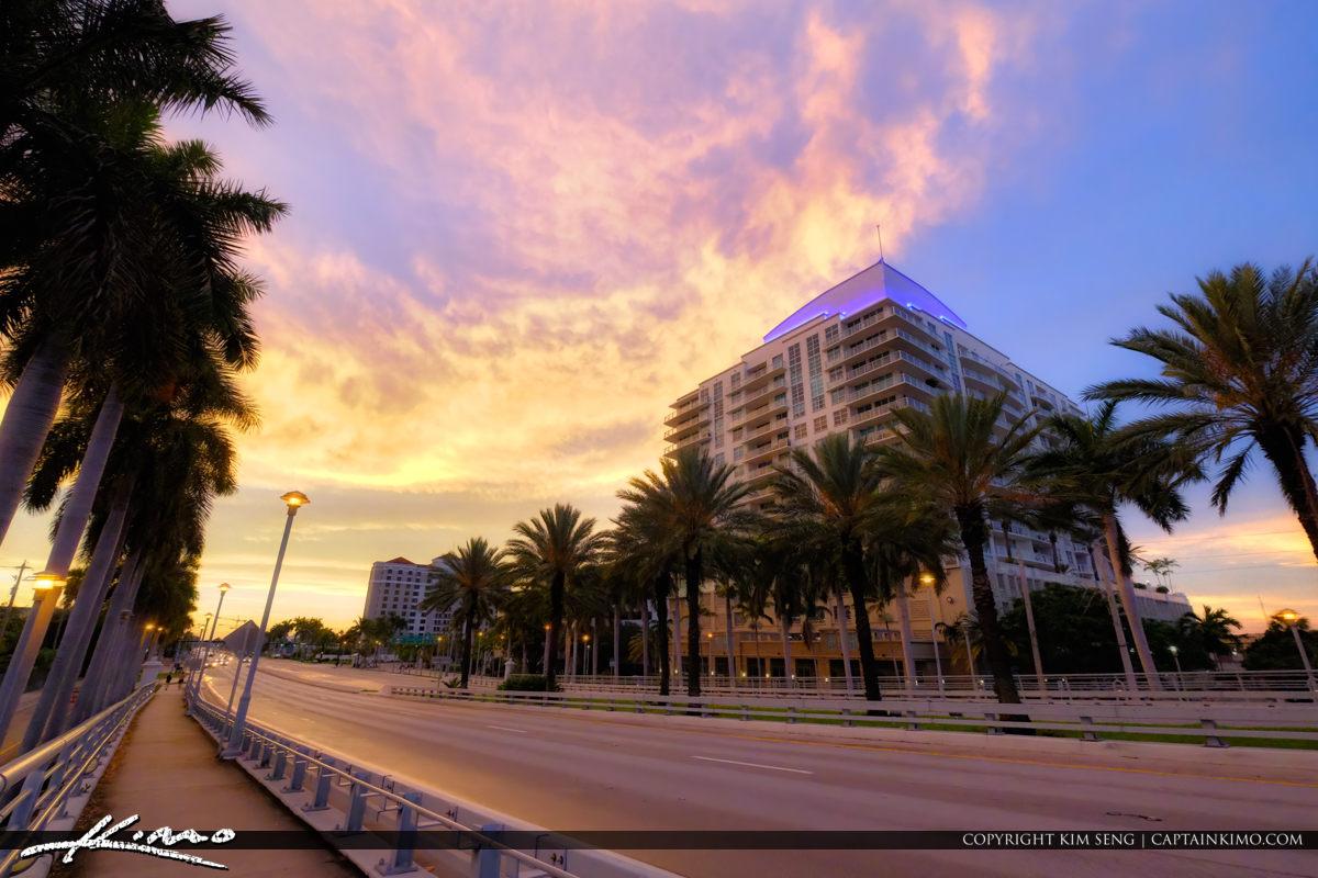 17 Street Fort Lauderdale Florida Sunset