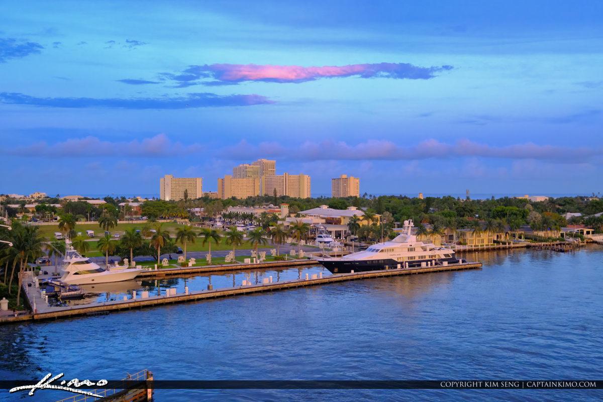 Marina Condo View Fort Lauderdale Florida Sunset