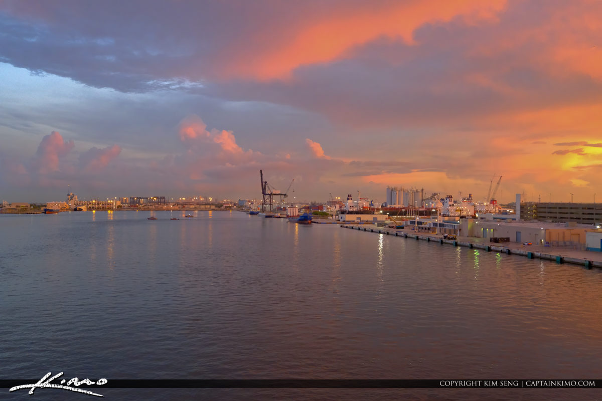 Port Everglades Fort Lauderdale Florida Sunset