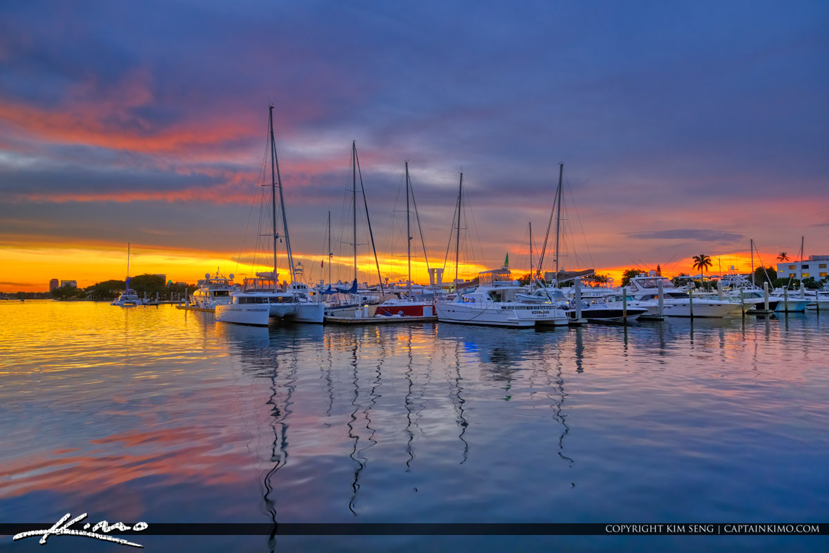 Marina Fort Lauderdale Florida Sunset