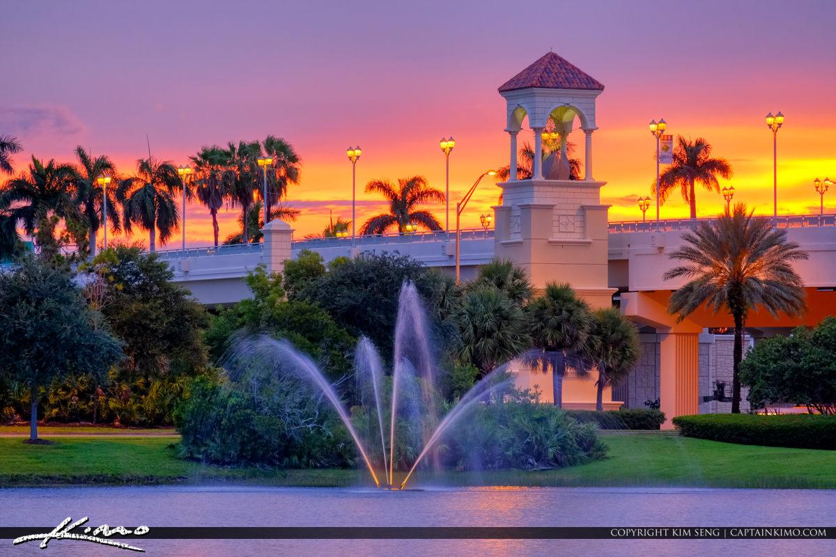 Water Foruntain PGA Flyover Bridge Palm Beach Gardens