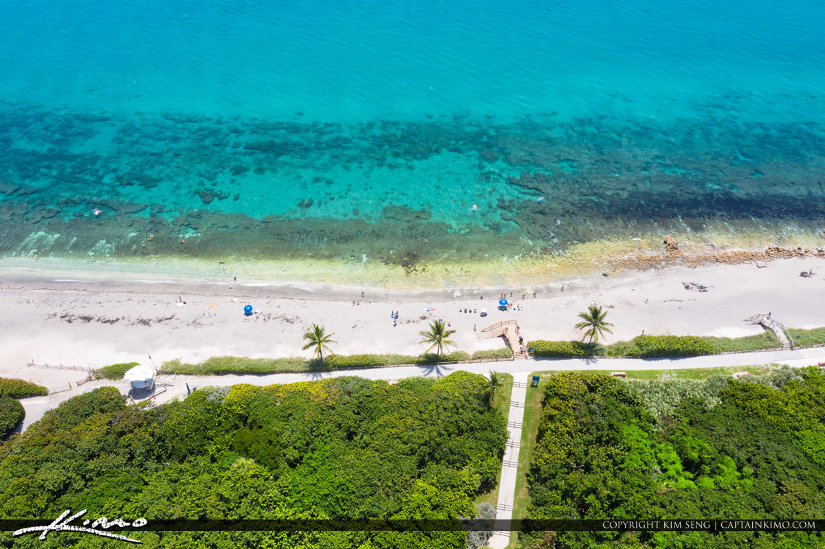 Coral Cove Park Aerial Jupiter Island Bluewater