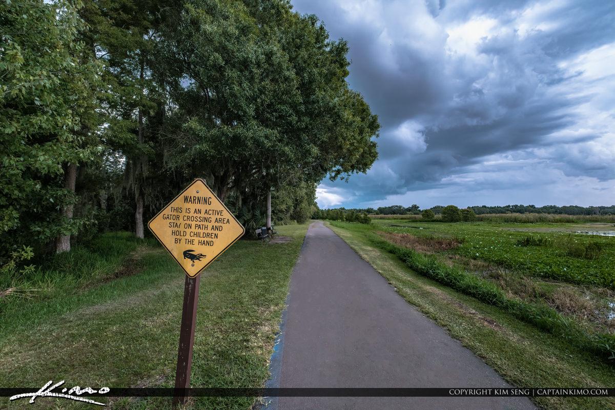 Lake Parker Park Lakeland Florida Alligator Warning Sign