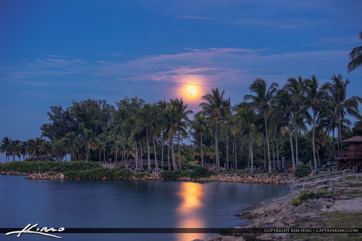 Dubois Park Moonrise Jupiter Florida
