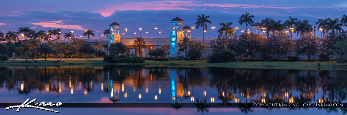 Palm Beach Gardens PGA Flyover Bridge Panorama