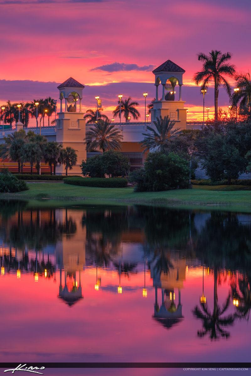 Vertical Sunset PGA Flyover Bridge Sunset Gardens
