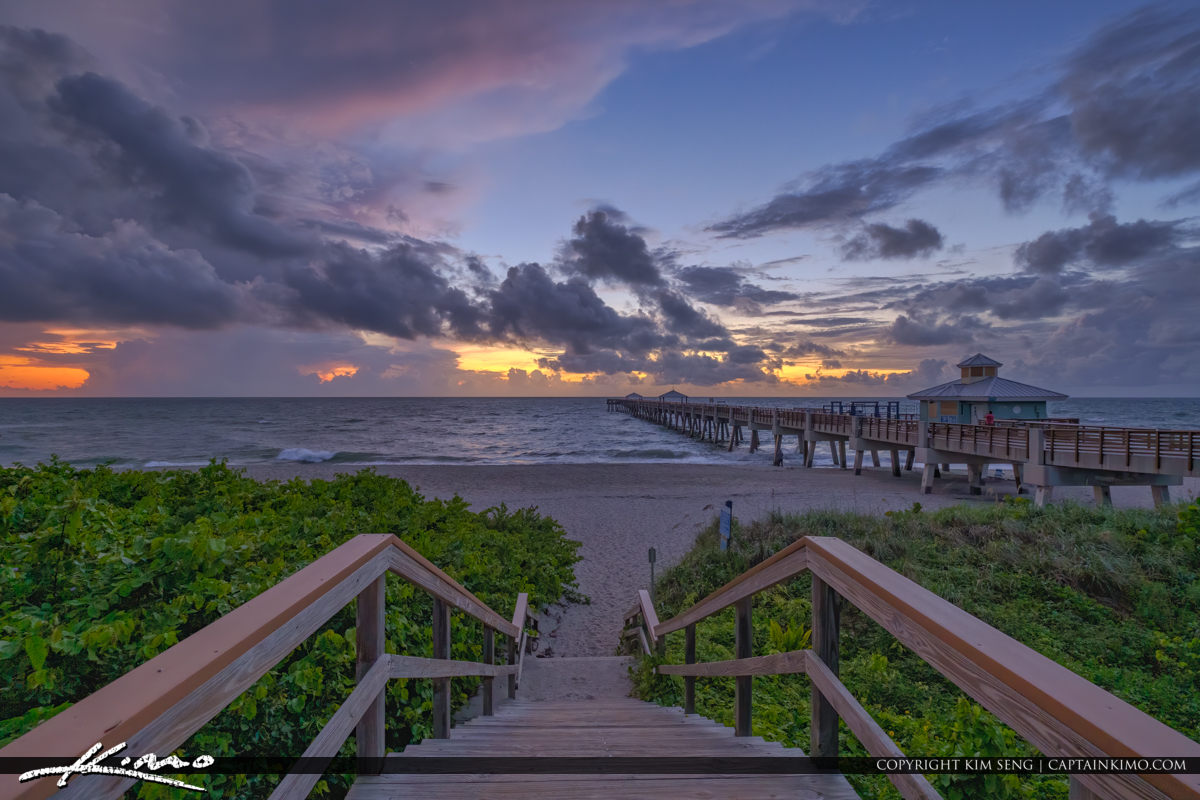Juno Beach Sunrise Before Dorian Hurricane