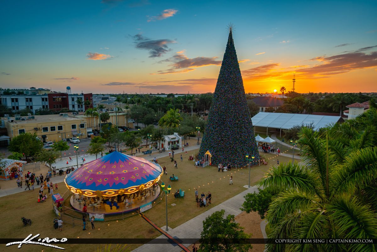 100 Ft Christmas Tree Delray Beach 2019