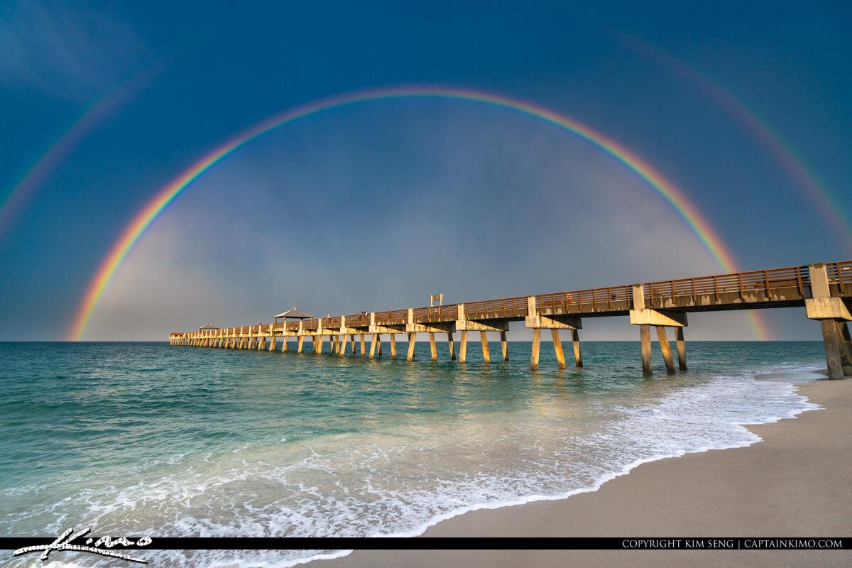 Juno Beach Pier Rainbow June 19 2020