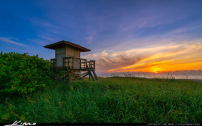 Sunrise Lifeguard Tower at Singer Island Beach Ocean Reef Park