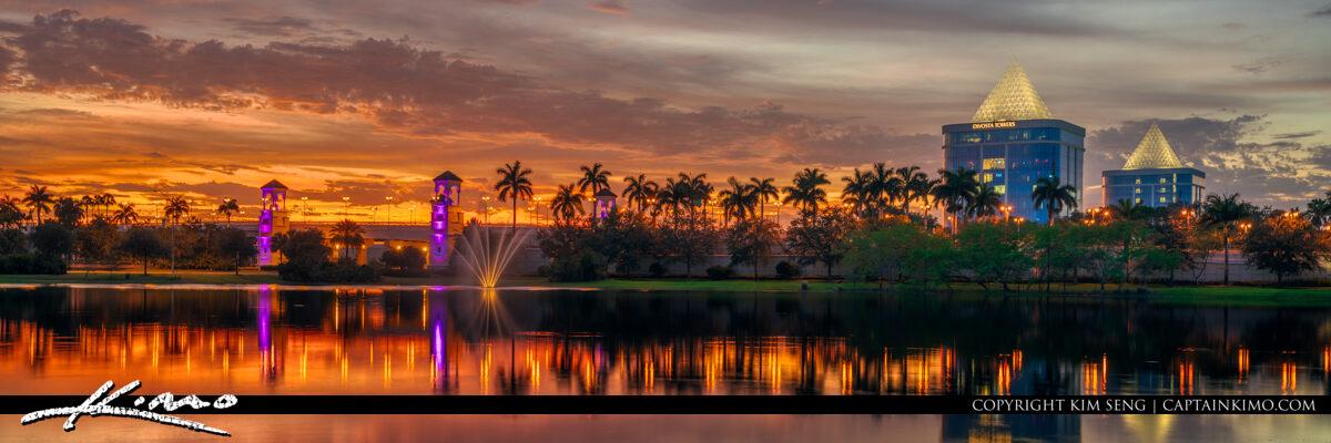 Palm Beach Gardens Sunset Pano Divosta Towers