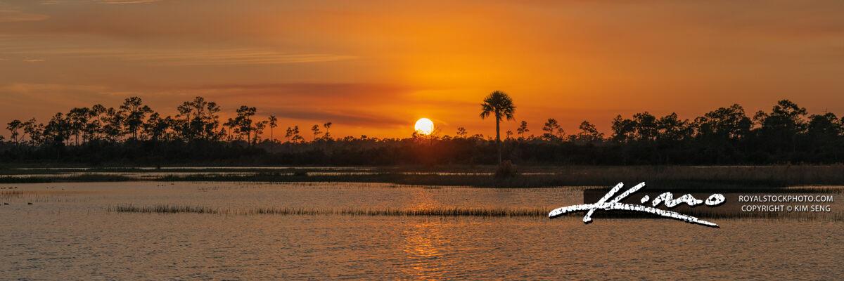 Florida Landscape Sunset Panorama Jupiter Farms