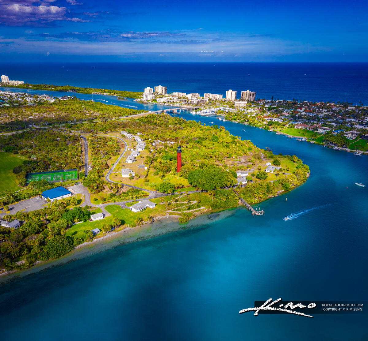 Jupiter Lighthouse Bluewater Aerial