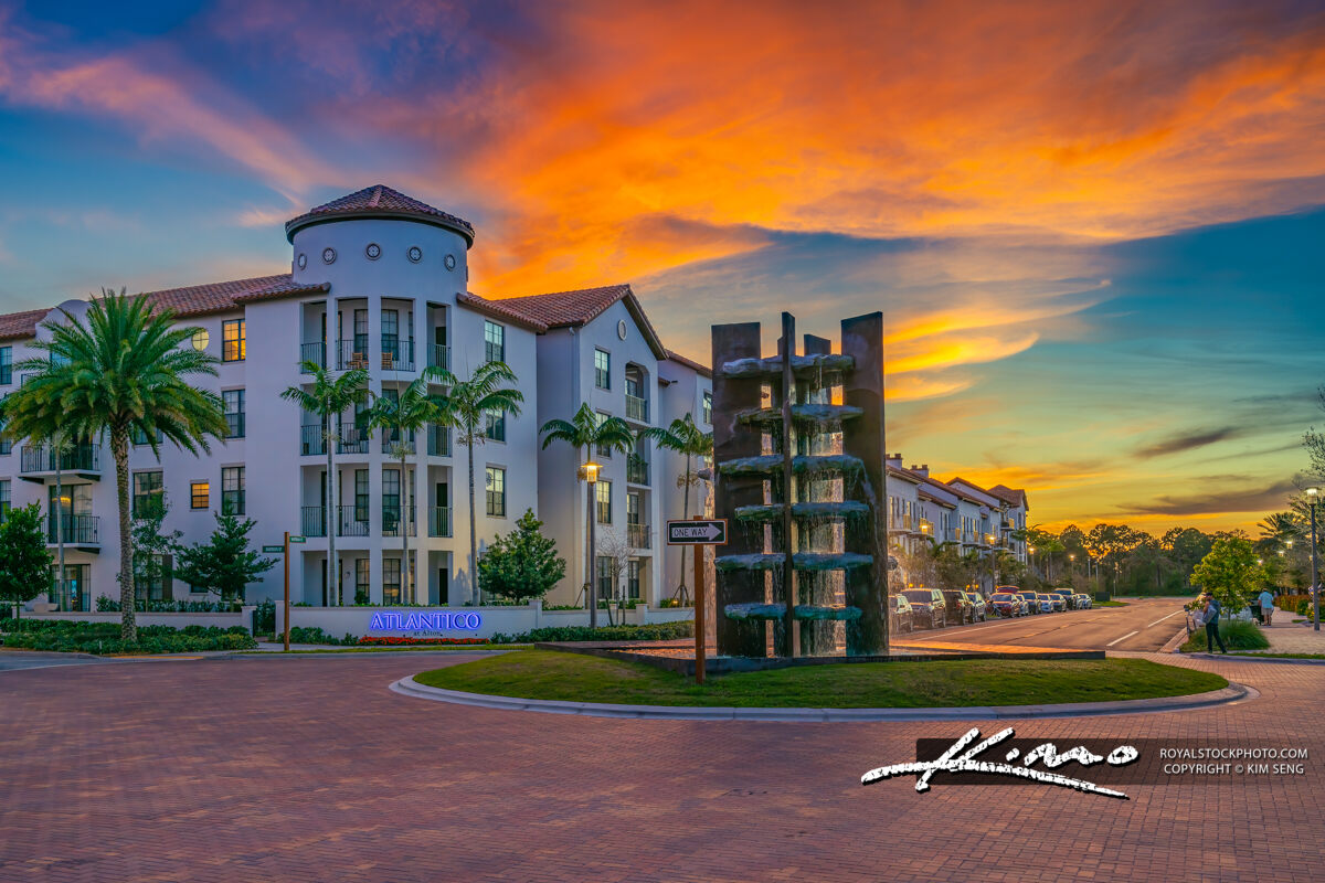Atlantico at Alton Palm Beach Gardens Sunset Florida