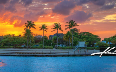 Dubois Park Lagoon Sunset Panoramic Jupiter Florida