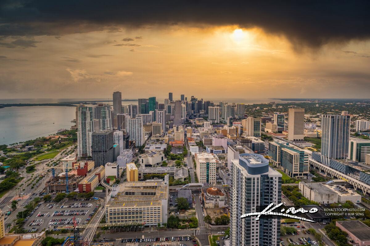 Miami Skyline from Top of Skyscraper