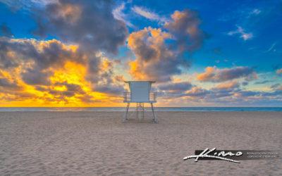 Singer Island Beach Sunrise Lifeguard Tower at Beach