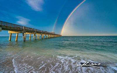 Juno Beach Pier the End of the Rainbow
