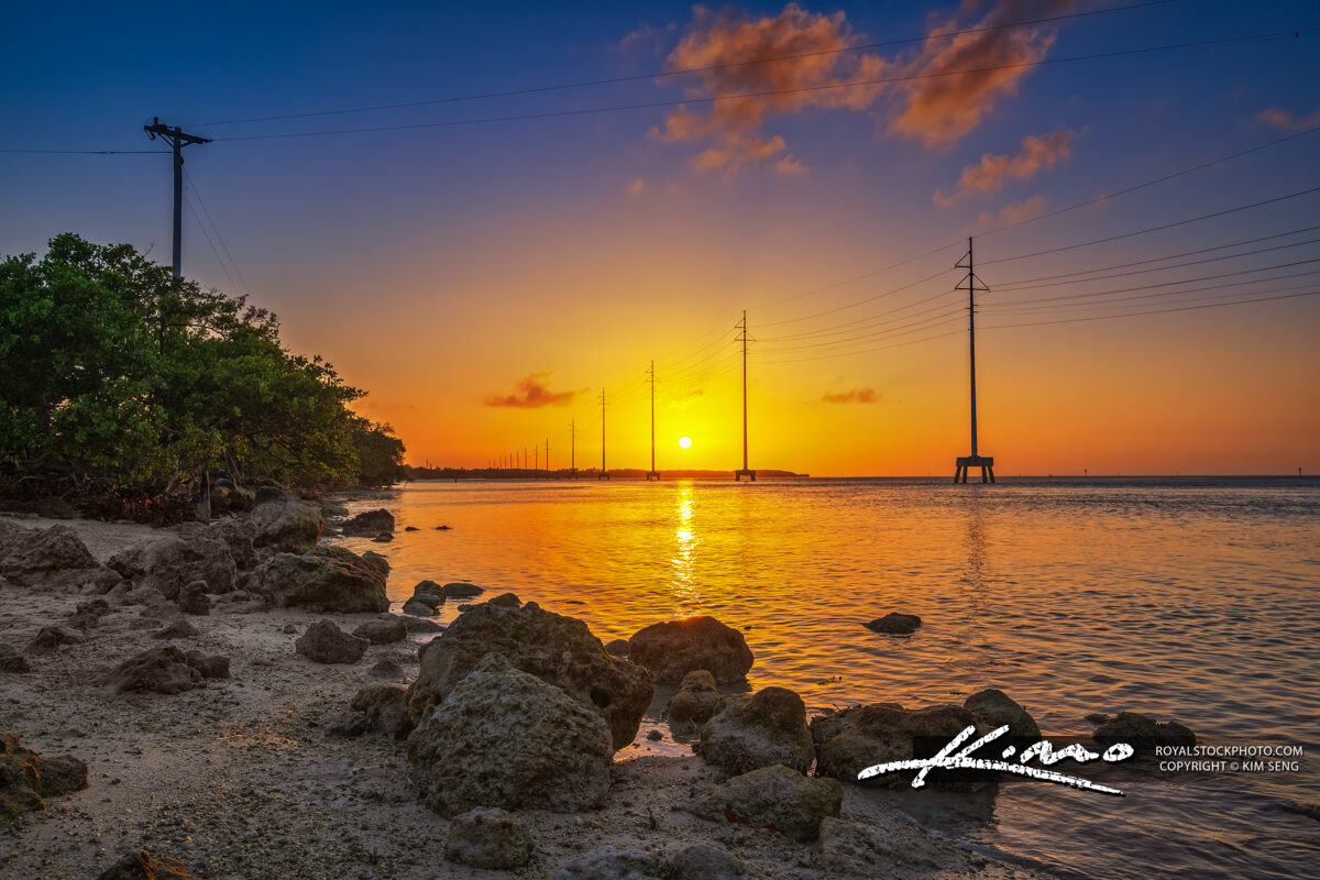 Florida Keys Sunset from Along the Highway