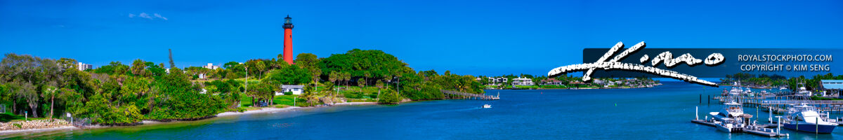 Jupiter Lighthouse and Inlet Super Wide Panoramic
