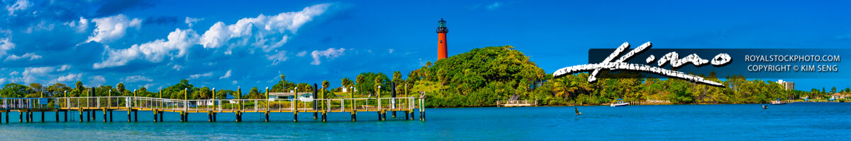 Jupiter Lighthouse from Pelican Club Super Wide Panoramic