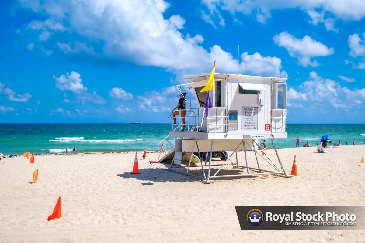 Life Guard at Beach Las Olas Fort Lauderdale