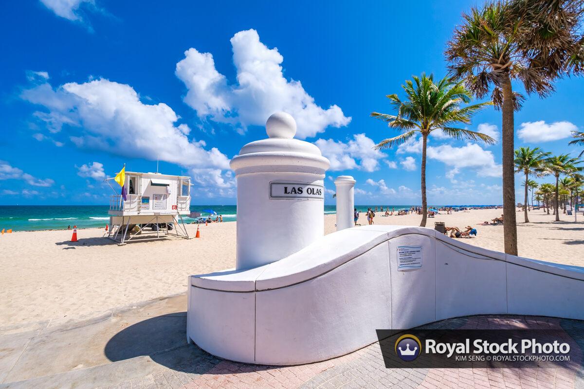 Beach Sign at Las Olas Fort Lauderdale