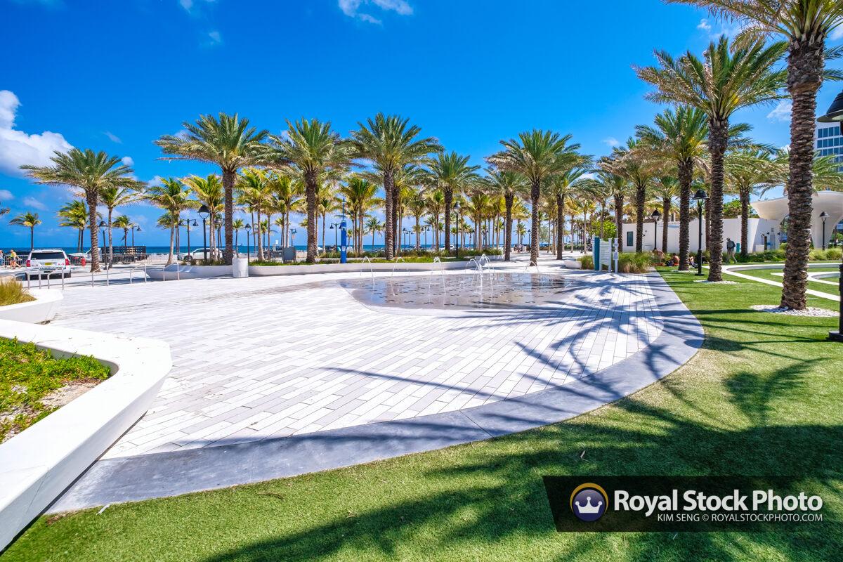 Water Fountain at Beach Las Olas Oceanside Beach Fort Lauderdale