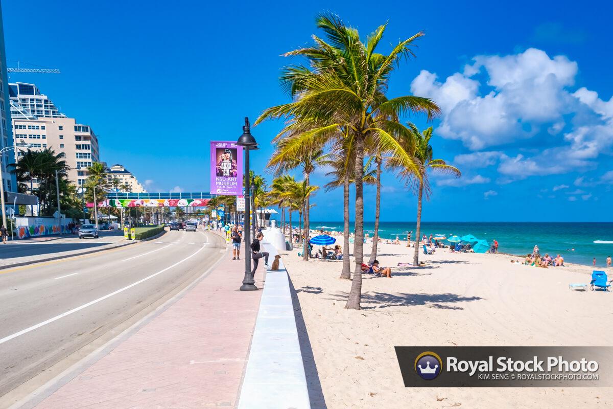 A1A Street at Beach Sebastian Street Beach Fort Lauderdale