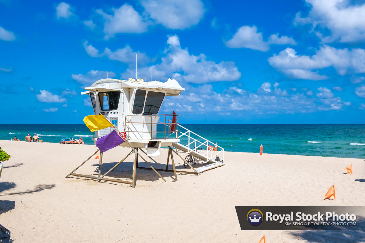 Sunny Day Lifeguard Tower Sebastian Street Beach Fort Lauderdale