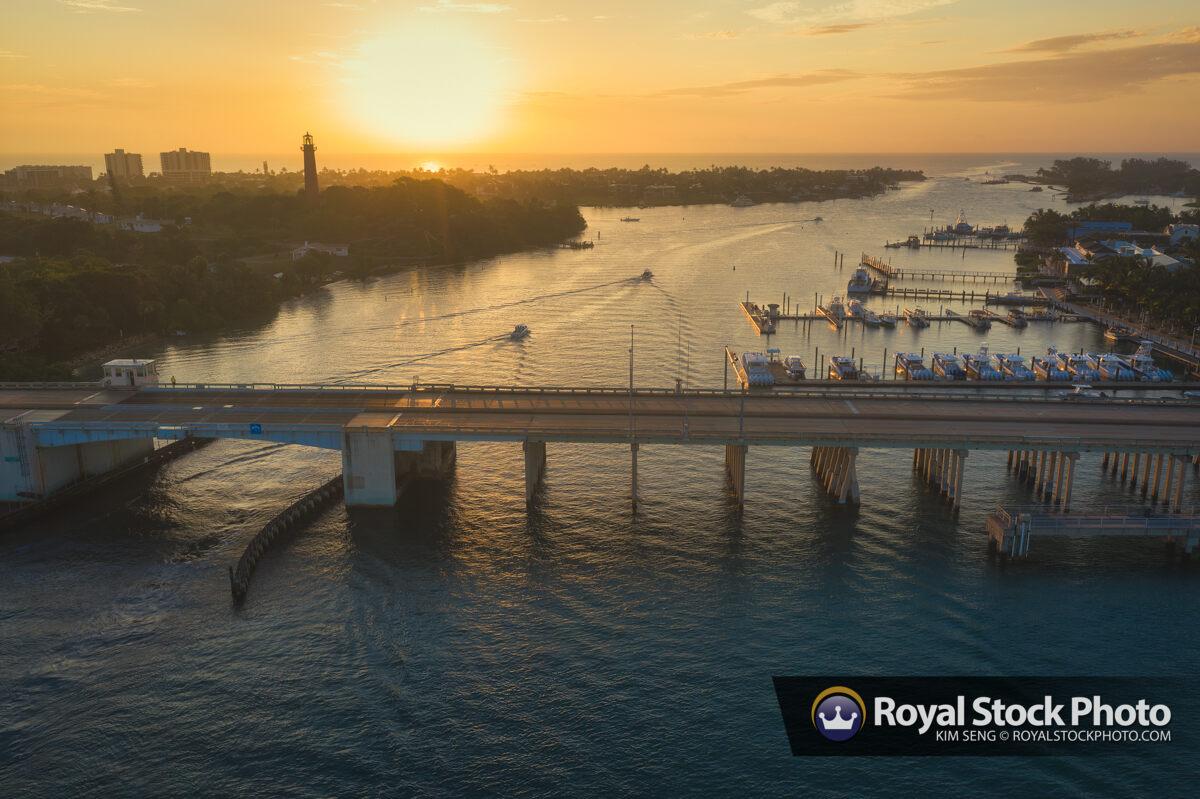 Jupiter US1 Bridge Sunrise Loxahatchee River