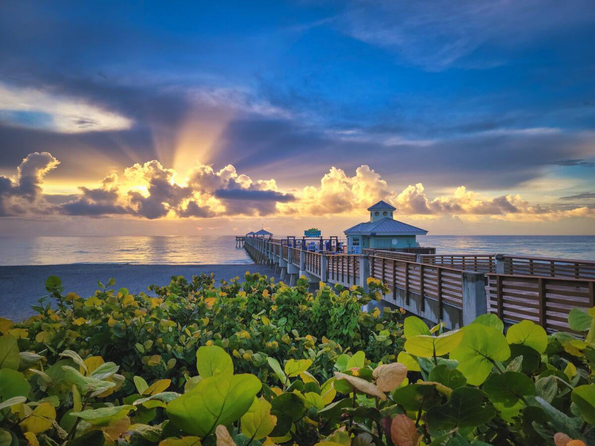 Juno Beach Pier Sunrise July 1st 2021
