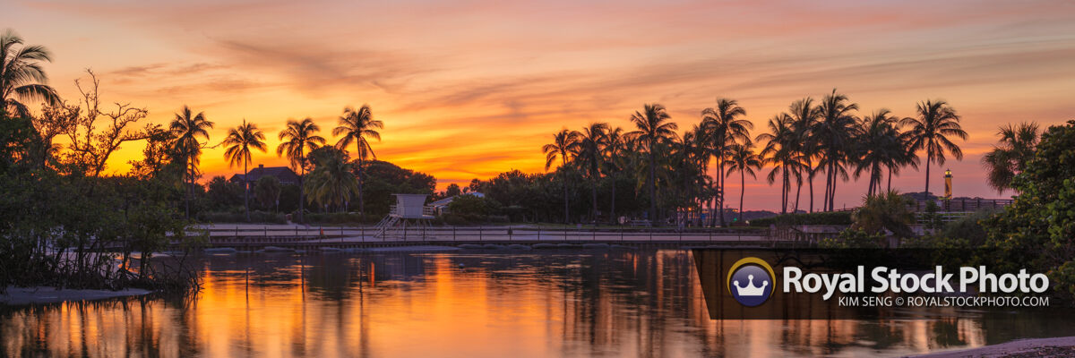Dubois Park at Lagoon Panorama Sunset