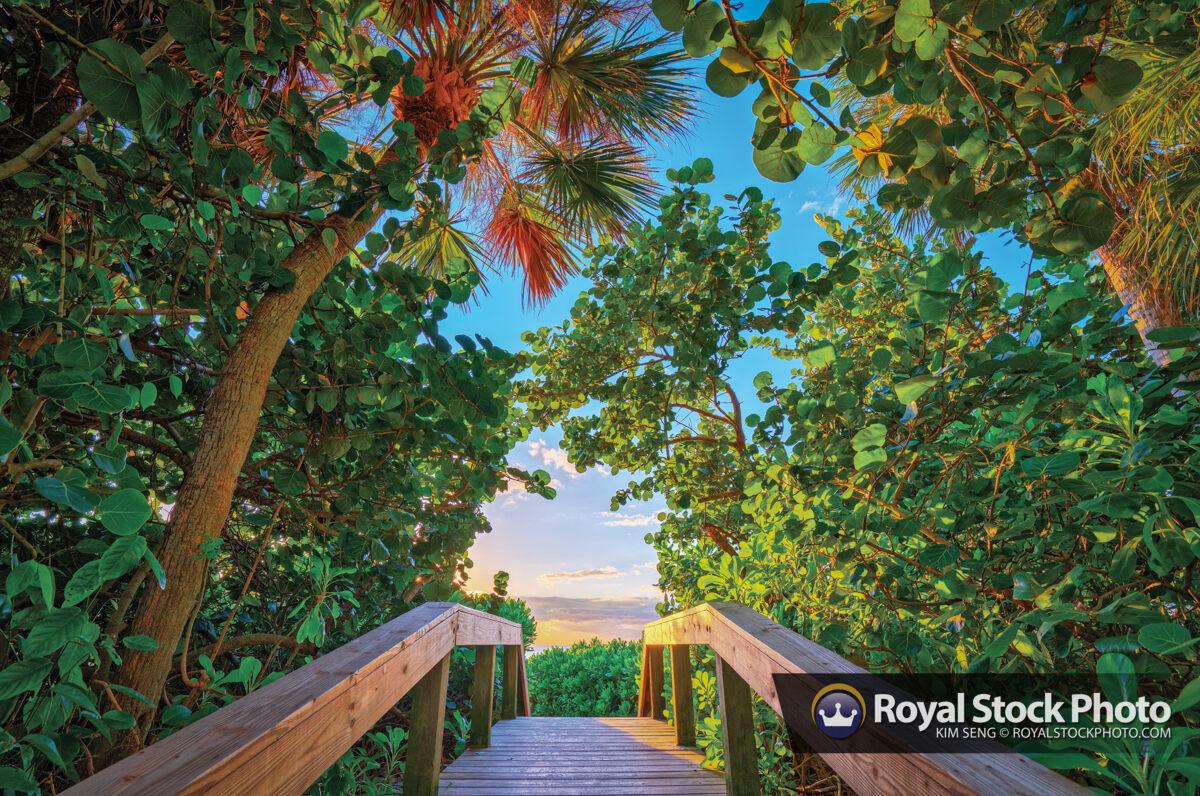Naples Florida Beach Entrance