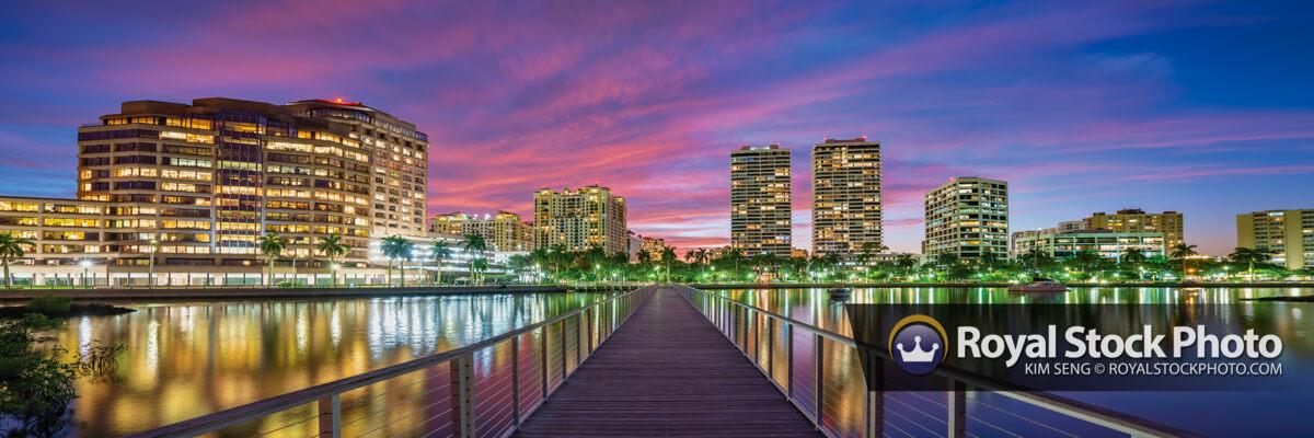 Panorama West Palm Beach South Cove Natural Area Purple Sky Suns