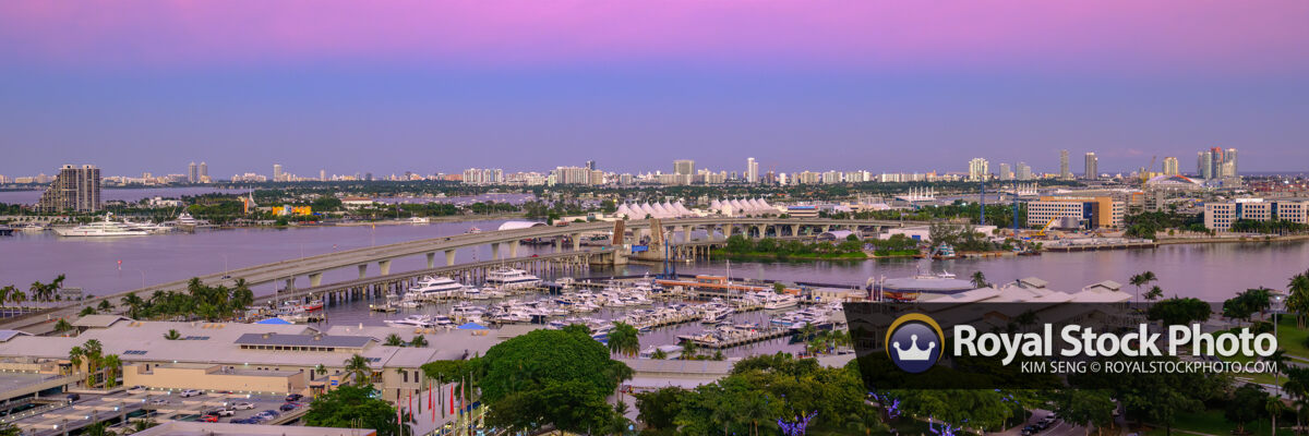 Miami Beach High View from Condo Over Looking Miami Beach