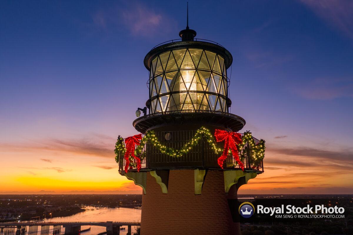 Jupiter Lighthouse Holiday Lights Upclose