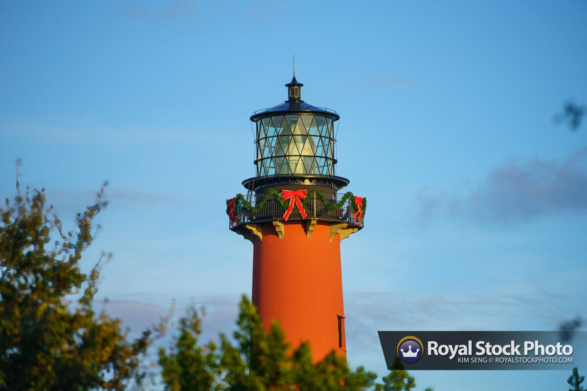 Jupiter Inlet Lighthouse Day Time Holiday Decoration