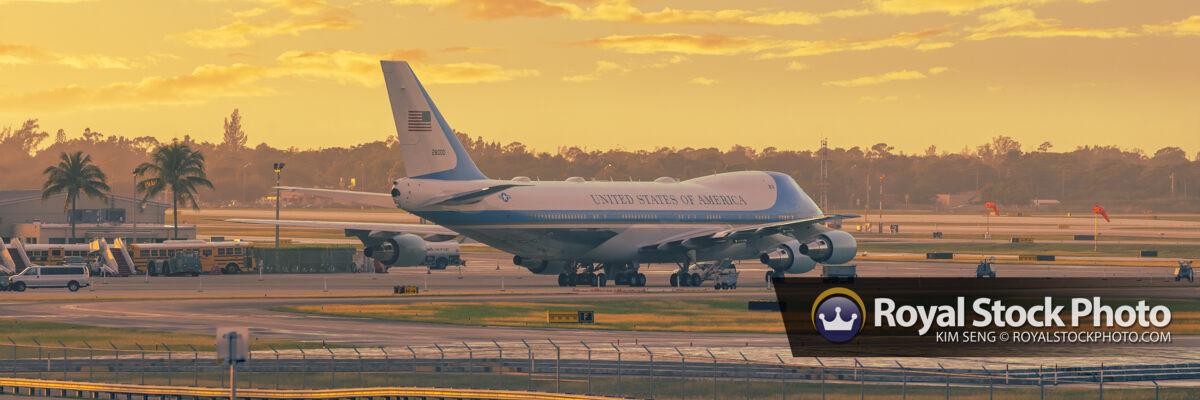 Air Force One Plane at PBI Airport